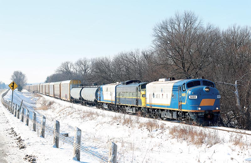Four-Season Day in North America for Railroads Illustrated Annual 2020